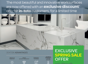 Free Upgrade to Dekton Worksurfaces Exclusively from in-toto Kitchens