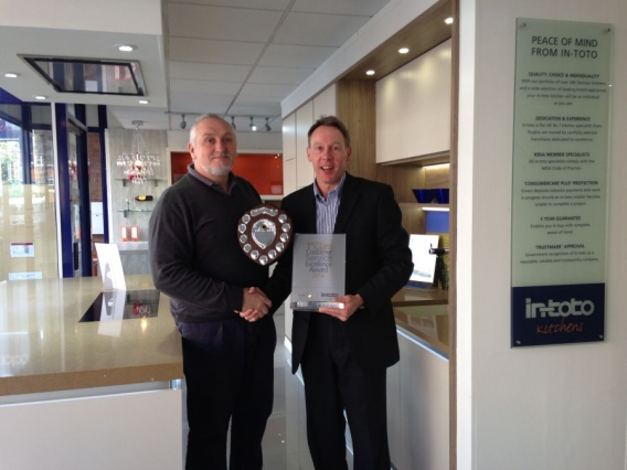 in-toto Kitchens Cheam receives Customer Service Excellence Award