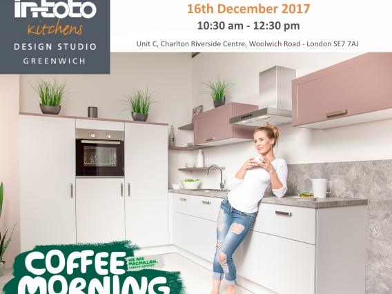 in-toto Greenwich hosting Coffee Morning in aid of the MacMillan Trust
