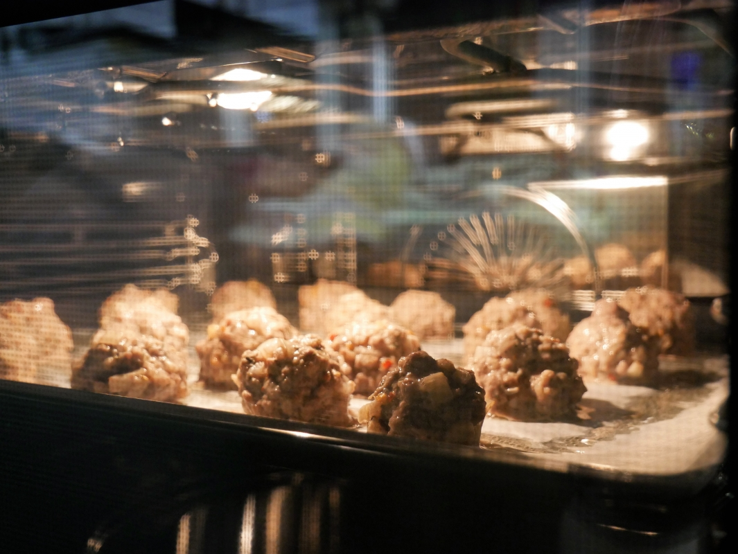 in-toto Kitchens AEG event, mini meatballs