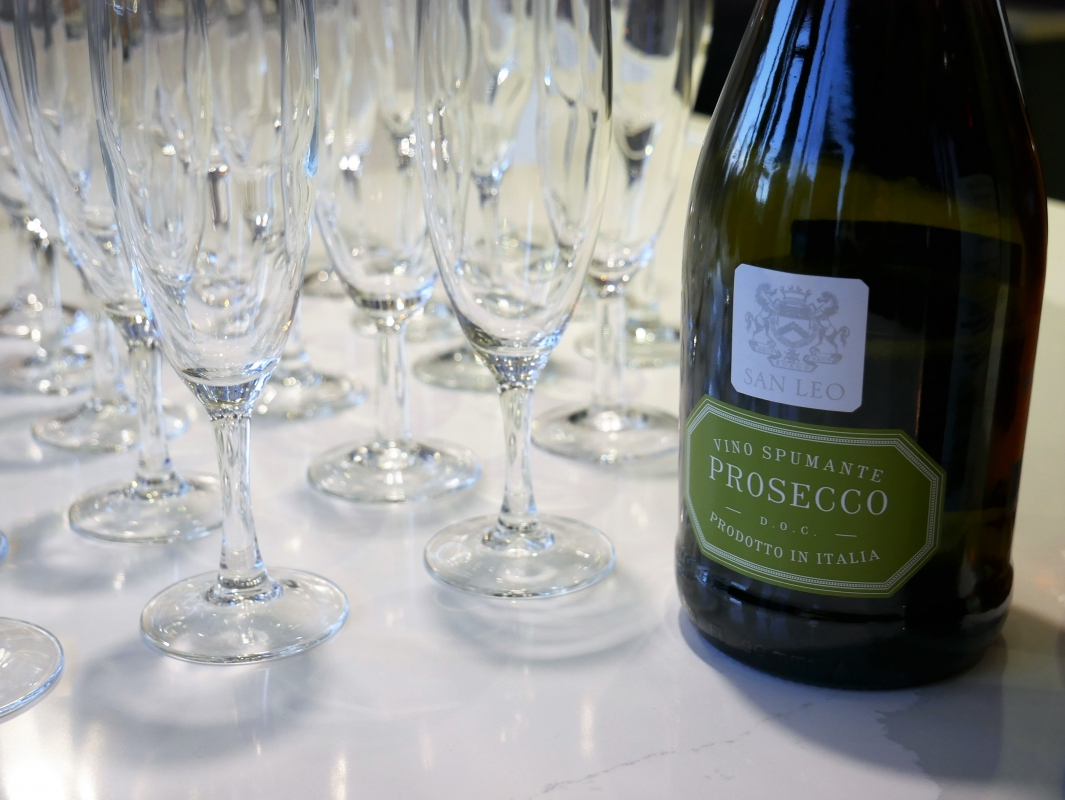 in-toto Kitchens Celebration time showroom relaunch Prosecco