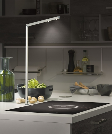 Shine a light on great kitchen design with new lighting innovations for a funky kitchen talking piece choose the new led hob light pictured right that turns 180 degrees for flexible lighting where needed and is activated aloadofball Image collections